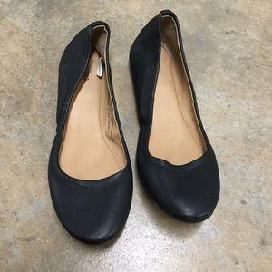 Mossimo Ona Black Scrunch Ballet Flats 7M